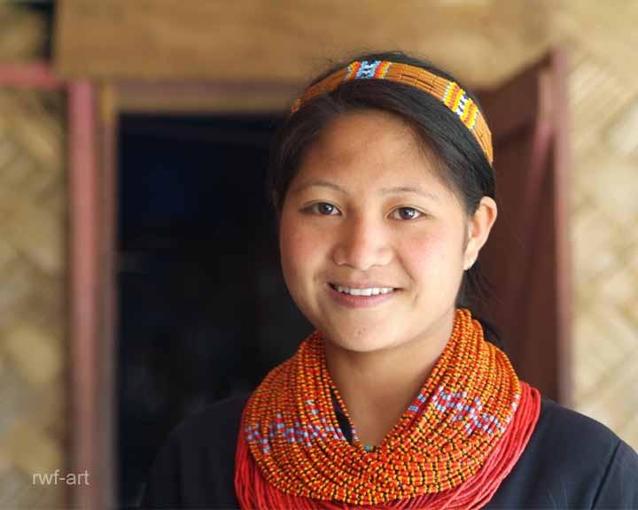 junges Nagamädchen, Nagaland