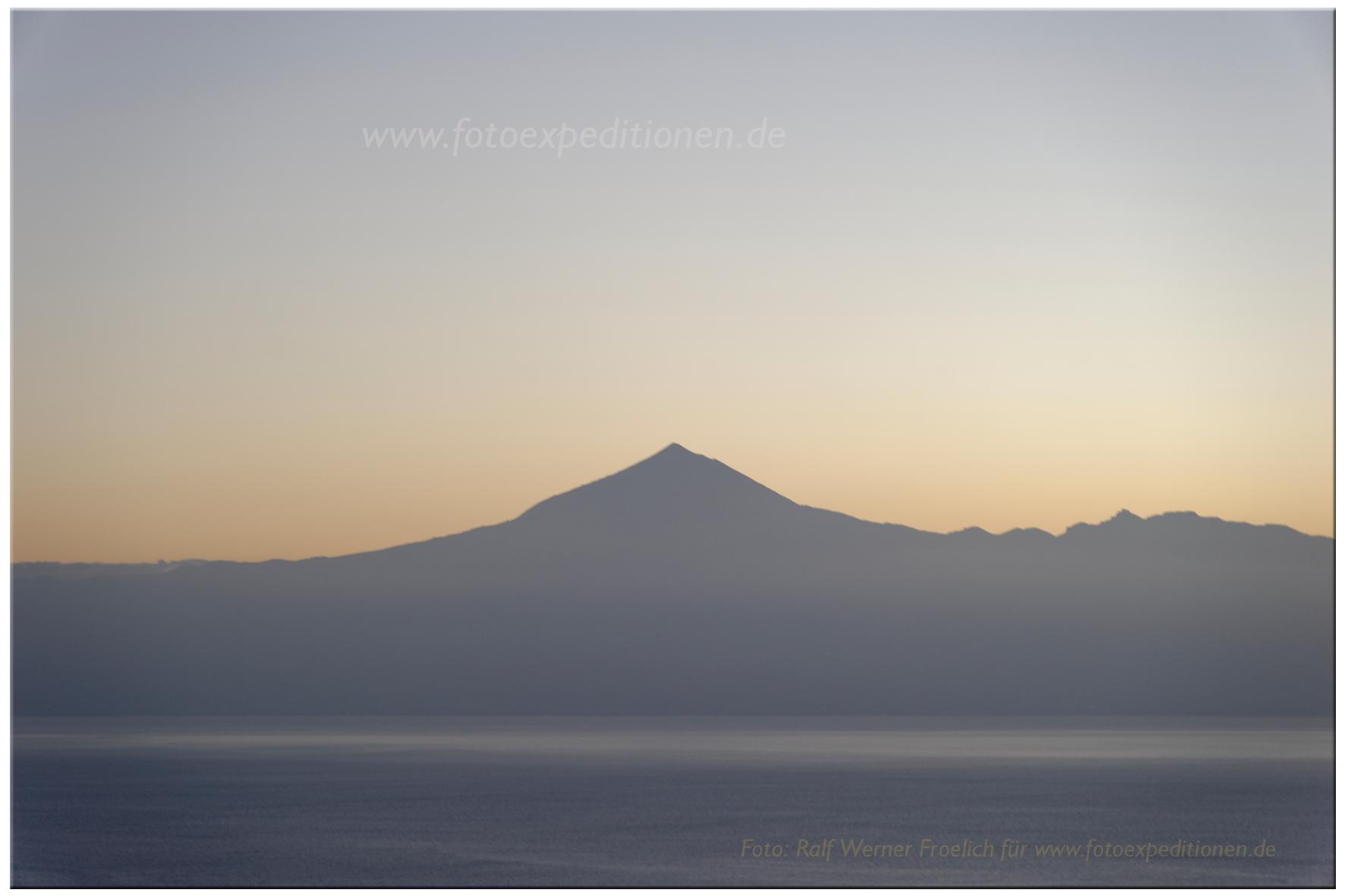 El Teide von Gomera aus gesehen