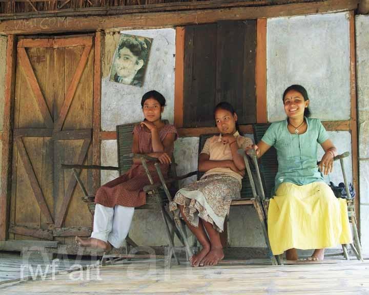 Mädchen auf Majuli