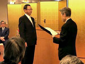受賞の様子 | 代表取締役社長 辻 博文
