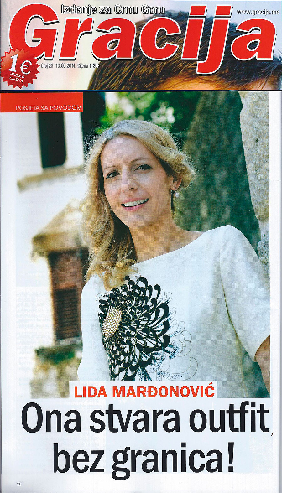 2014 | Media write about Lida Marđonović, a four children mother starting the fashion business