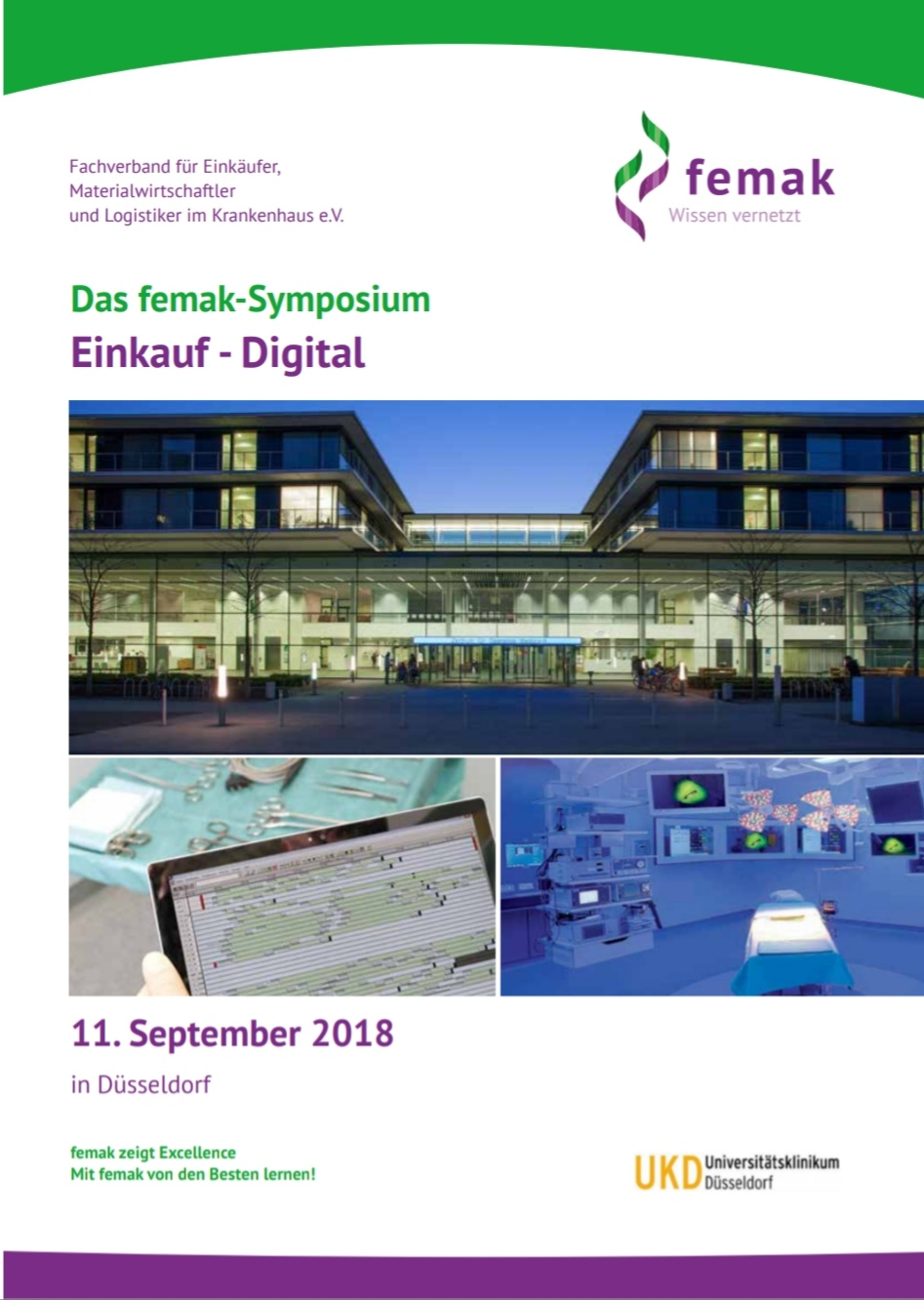 Femak symposium am 11. September 2018 in der Universitätsklinik Düsseldorf