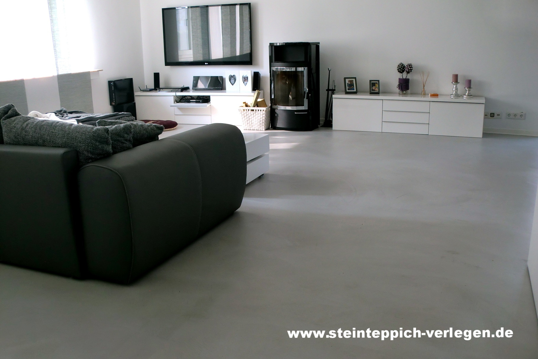Boden in Betonoptik, Preise & Kosten - Steinteppich in Ihrer Nähe!