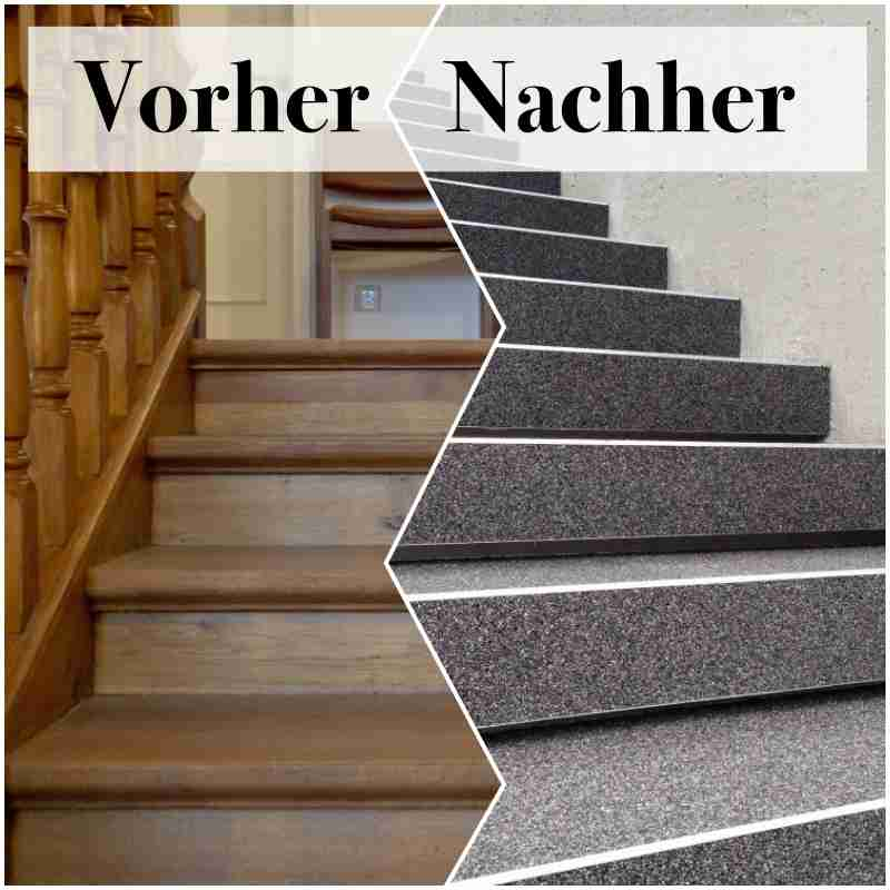 holztreppe mit steinteppich renovieren steinteppich in ihrer n he. Black Bedroom Furniture Sets. Home Design Ideas
