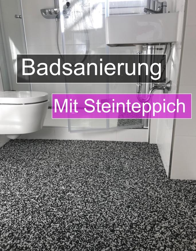 Steinteppich für Bad & begehbare Duschen - Fugenloser Boden Steinteppich