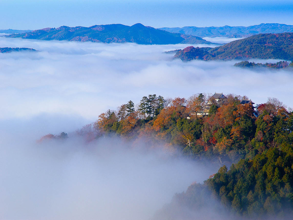 日本一高い所に天守が現存する天空の山城・備中松山城