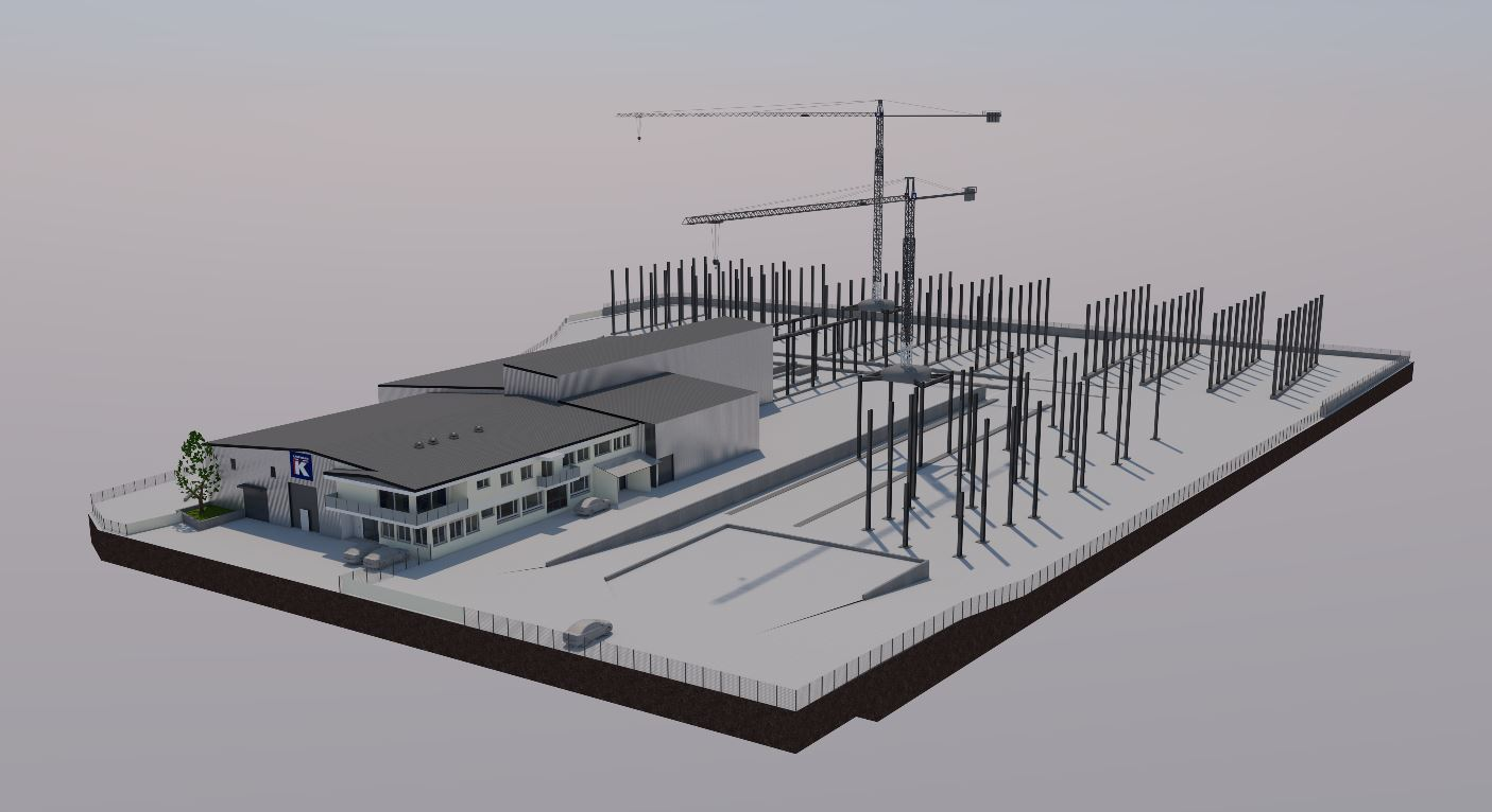 Abbruch und Neubau Werkhof mit Lagerplatz/ Chevroux