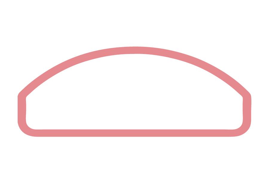 HF - Halbkugel, mit seitlicher Fase