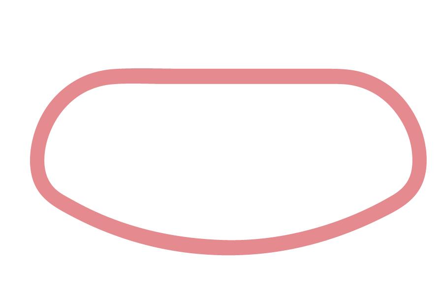 STE - Vierkant, eine Seite rund, eine flach