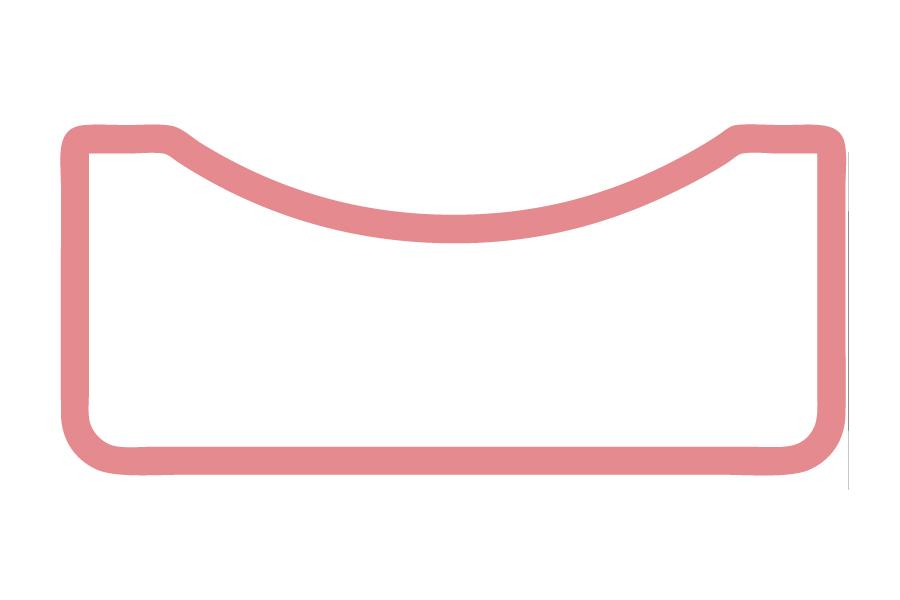 HO - Vierkant, außen Hohlkehle mit Flächen