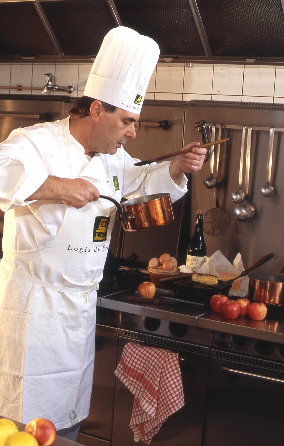 Le chef Trokay en cuisine
