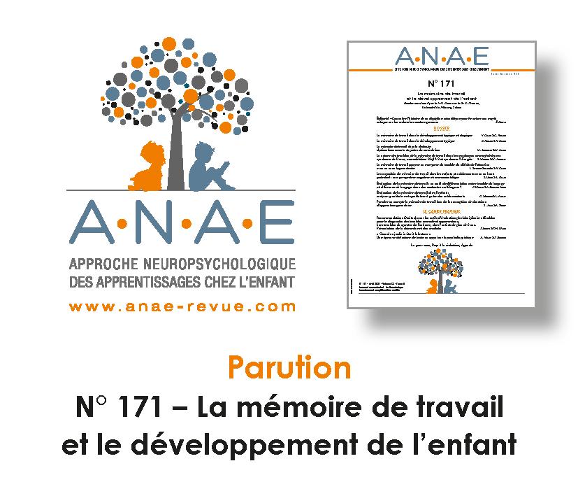 ANAE N° 171 - Mémoire de travail et Développement de l'enfant