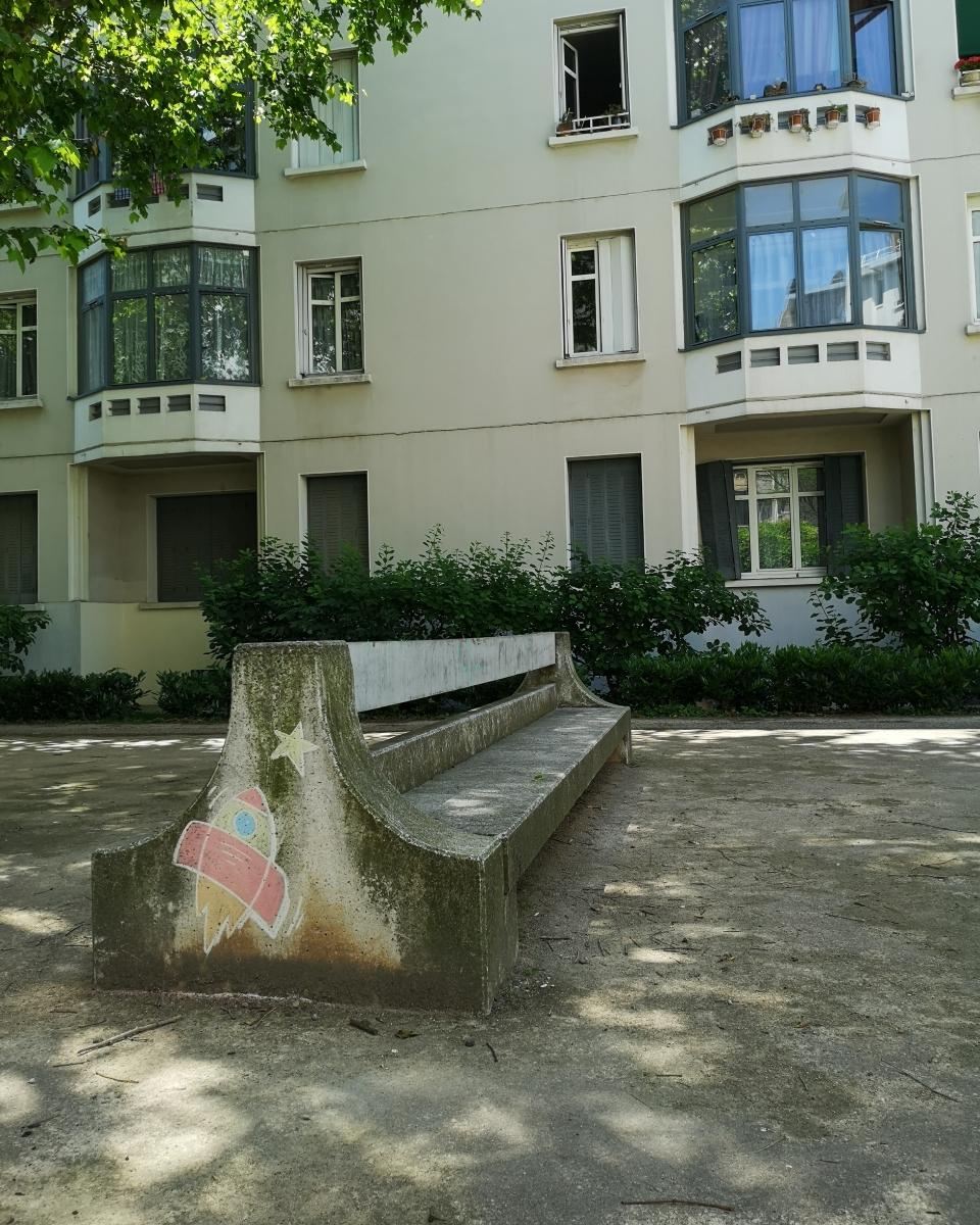 Kreidezeichnung, Lyon, 2019