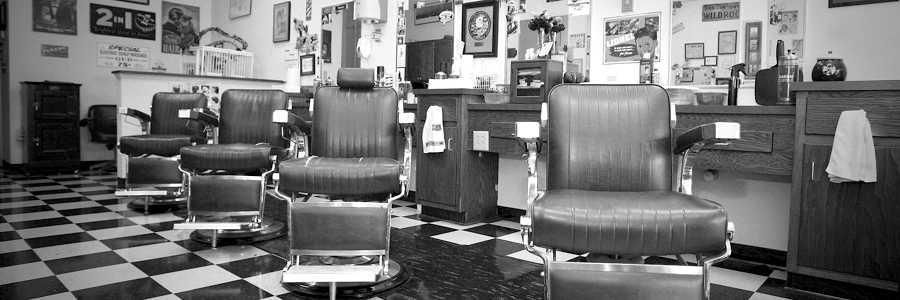Klassischer Barbershop Werbeschild