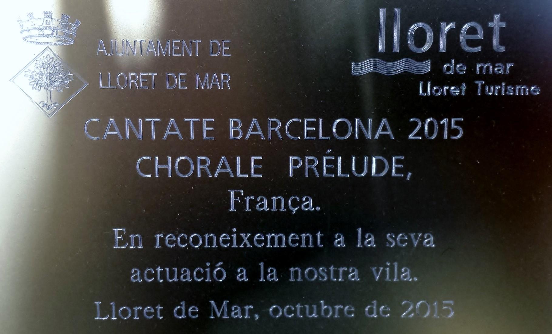 2015 - Festival Cantate Barcelone