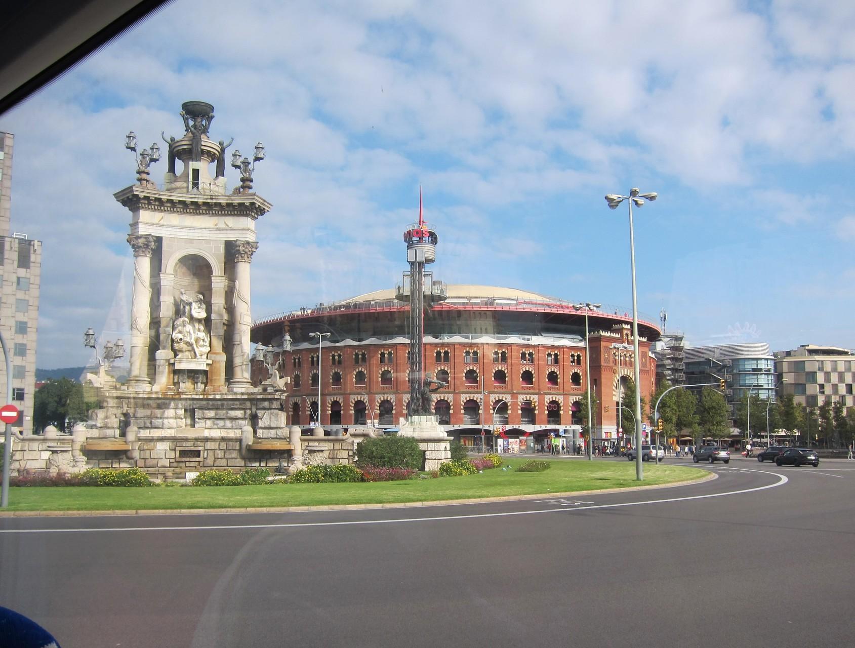 2015 - Barcelone - Entrée dans la ville en bus