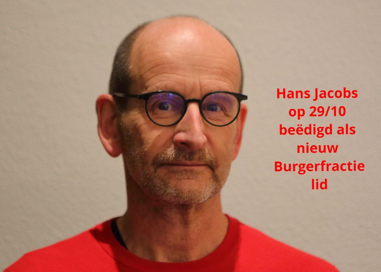 Hans Jacobs beëdigd als burgerfractielid