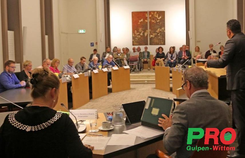 Raadsvergadering gemeente Gulpen-Wittem 20 juli  2021