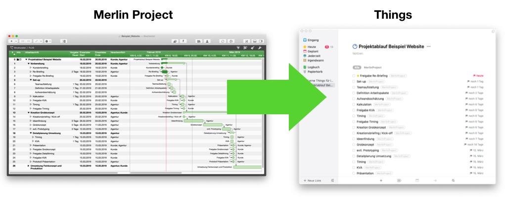 "ToDo-Listen aus Merlin Project in die App ""Things"" importieren"