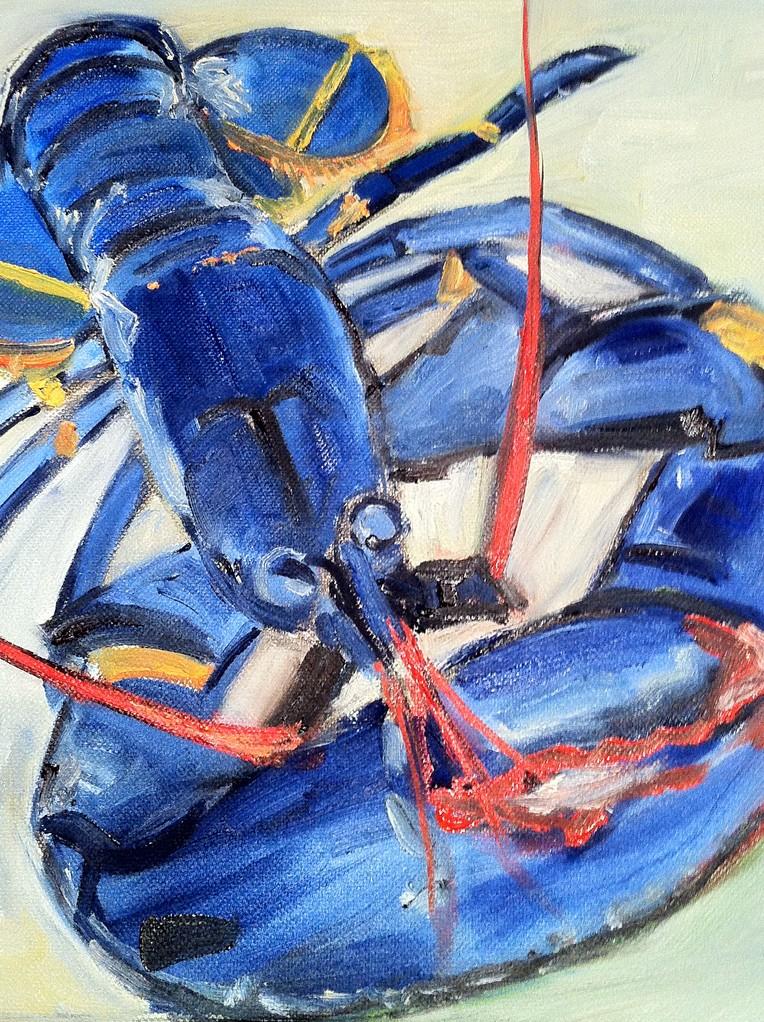HOMARD, Huile sur toile, 30x30 cm /2013
