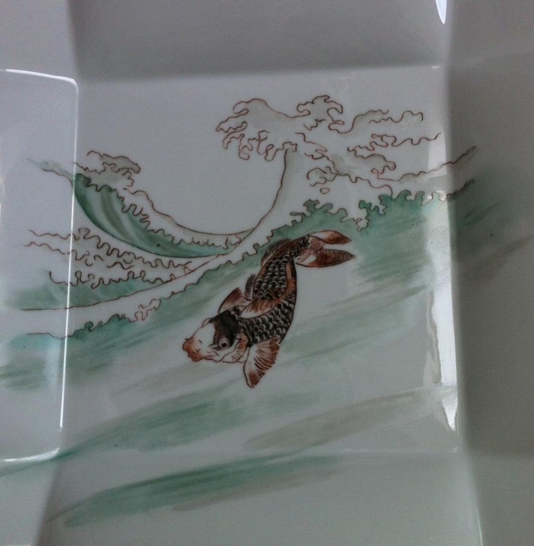 Assiette origami 25 cm x 25 cm