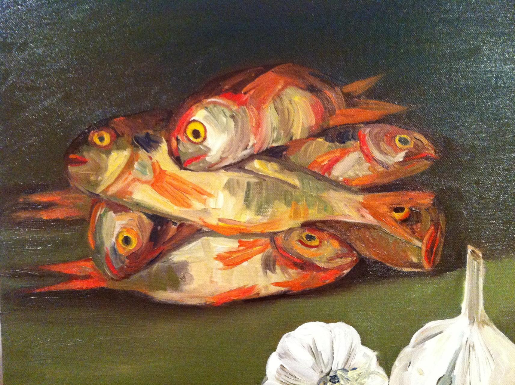ROUGETS ET AULX, Huile sur toile 40x40 cm /2014