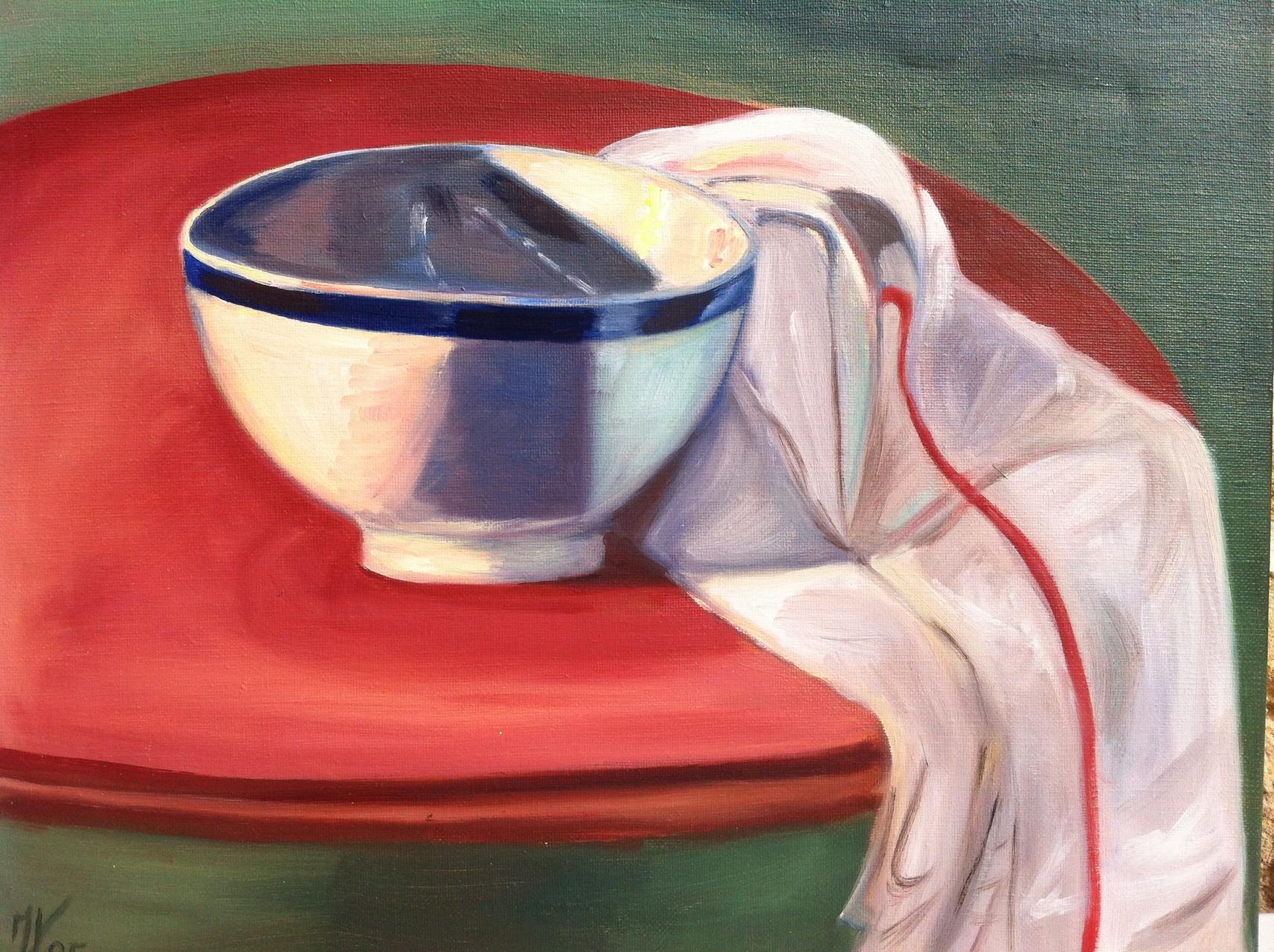 LE BOL, Huile sur toile 6F, 41x33 cm/1995