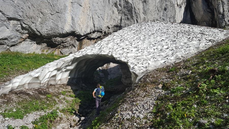 Schneefeld Hoher Göll Westwand Einstieg Jubiläumsweg