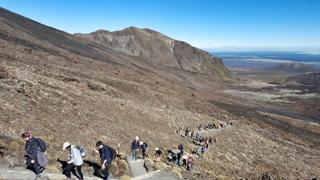 Stau auf der Tongariro Crossing