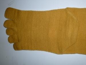 ゴムではなく編み方でサポートしています