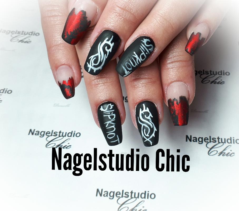 Slipknot nagels nail art
