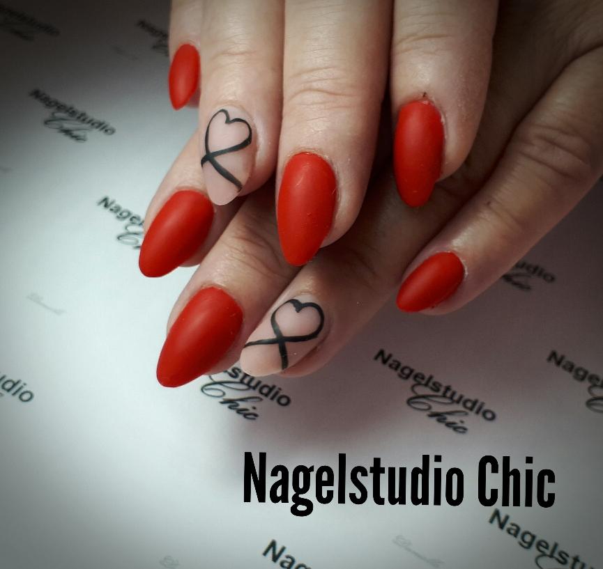Valentijns nagels