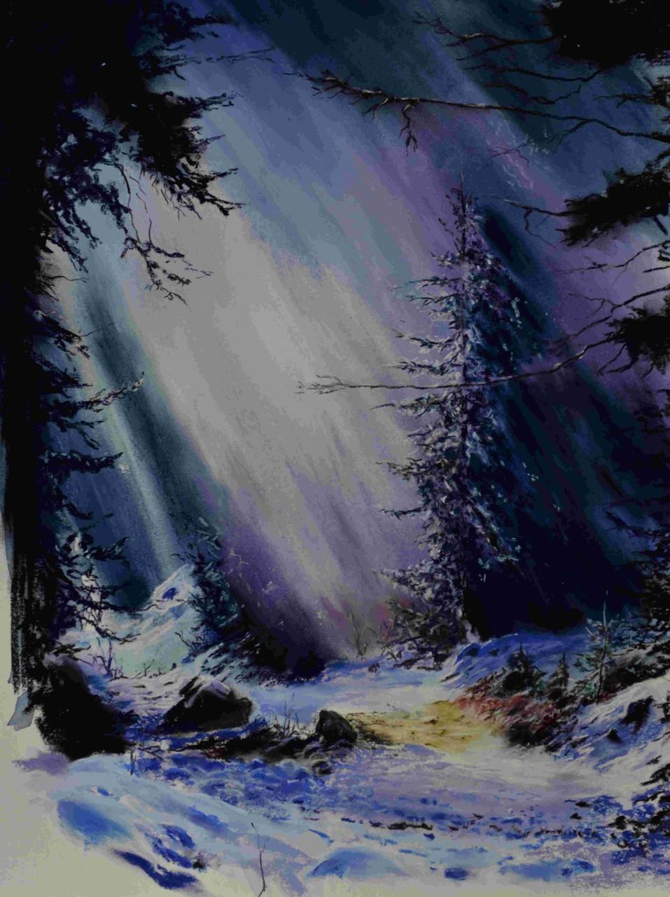 Lumière mauve - 56x42 cm