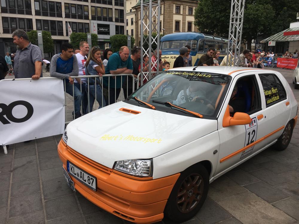 am Ziel der Rally-Trifels-Historic