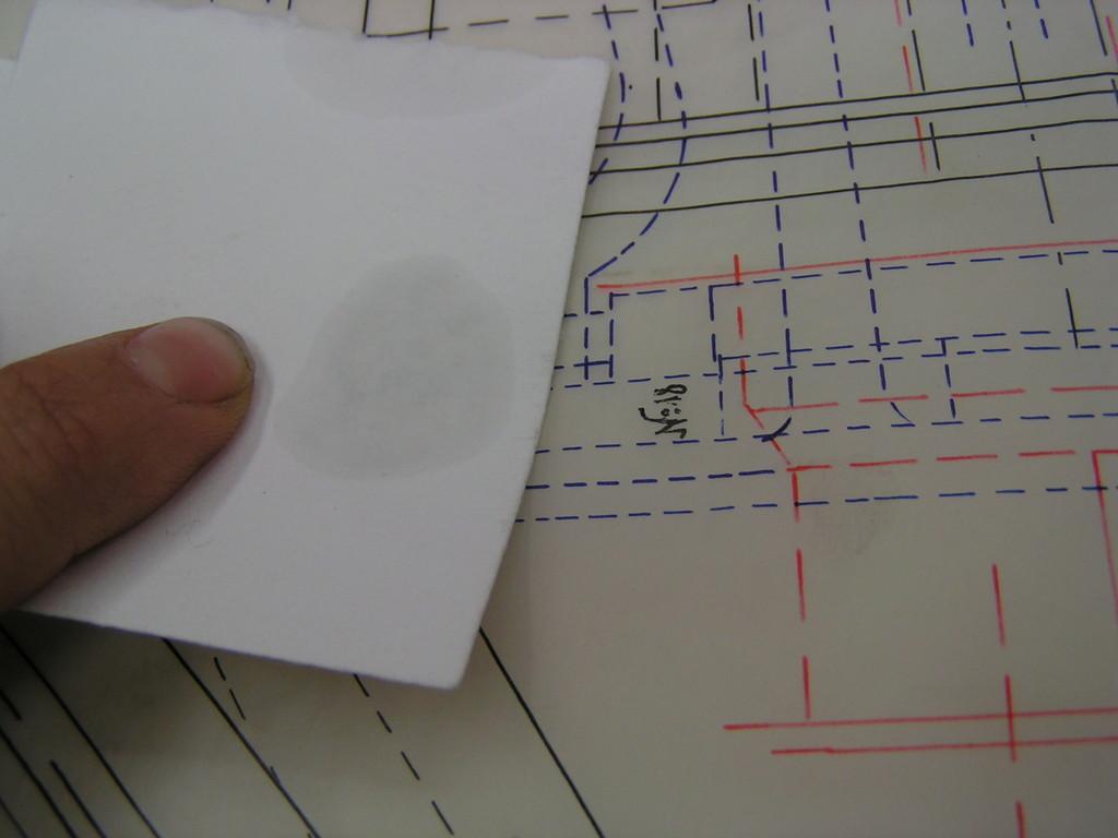 risultato test di solubilità degli inchiostri