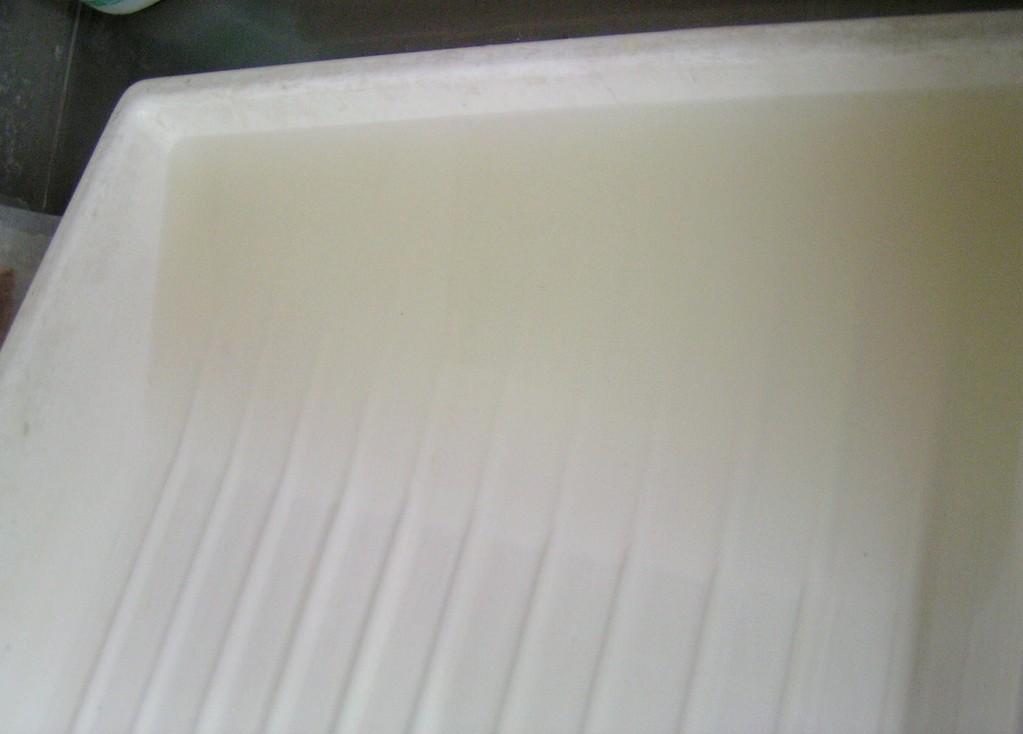 acqua dopo il trattamento con calcio fitato