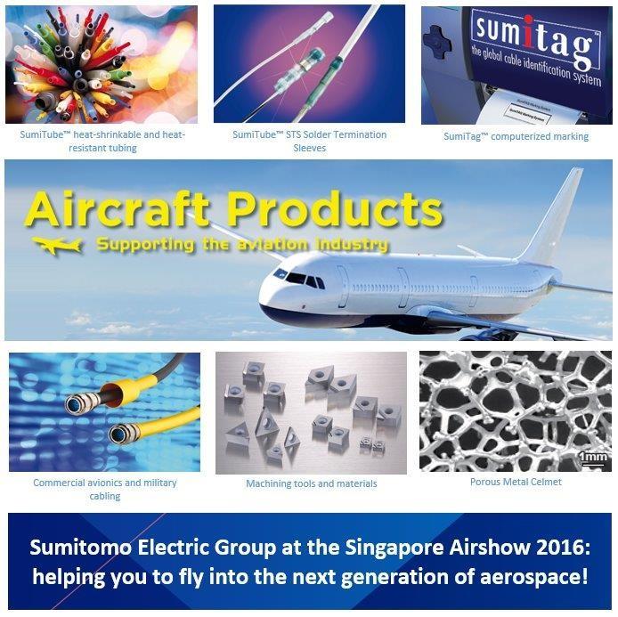 Sumitomo Electric At Singapore Airshow 2016 Sei