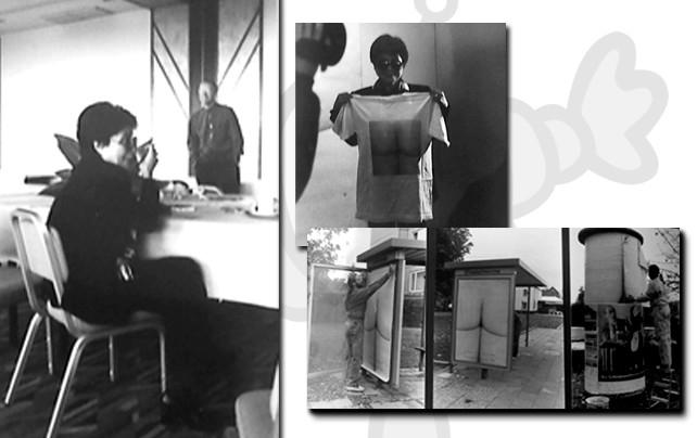 Yoko Ono Human Beeing in Langenhagen - Umsetzung der Idee in Merchandising