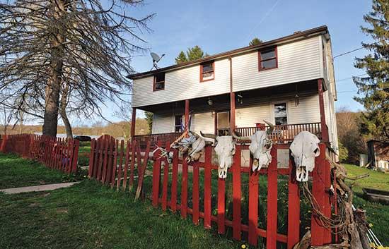 ドバンスキー家の農場は、メリーランド州オークランドのバックボーン山の麓に位置している。