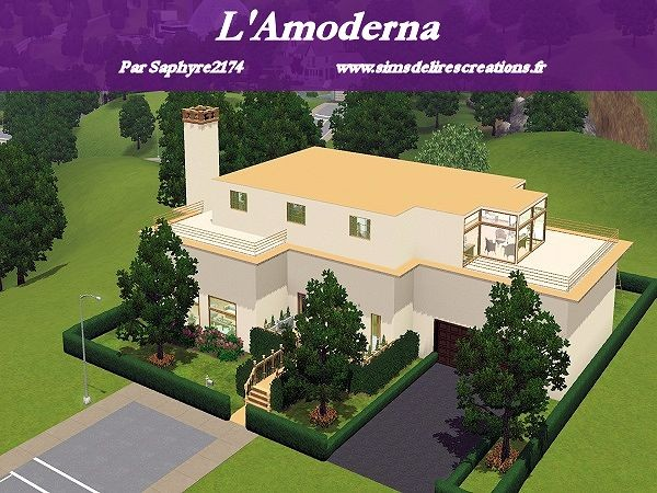 Sims Sims3 maison creations residentiel modernes