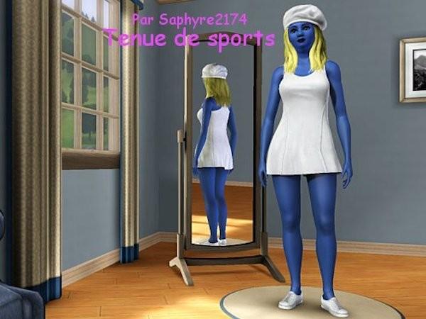 La Schtroumpfette - www.simsdelirescreations.fr