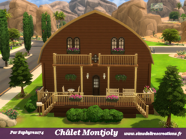 Sims Sims4 maison châlet creations residentiel