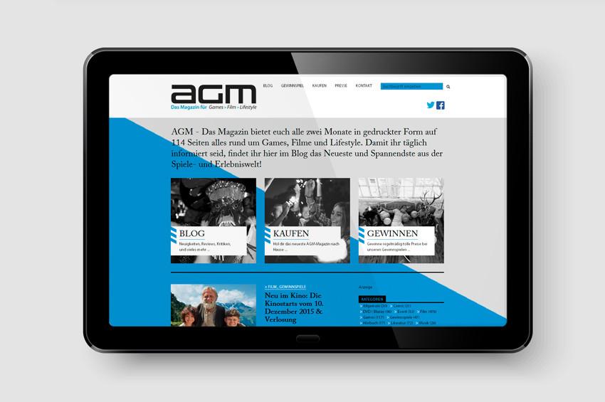 AGM Magazin - Screendesign