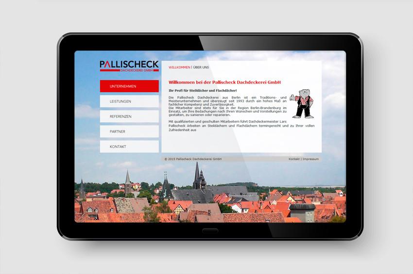 Dachdeckerei Pallischeck - Screendesign