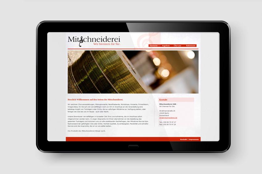 Mitschneiderei GbR - Screendesign
