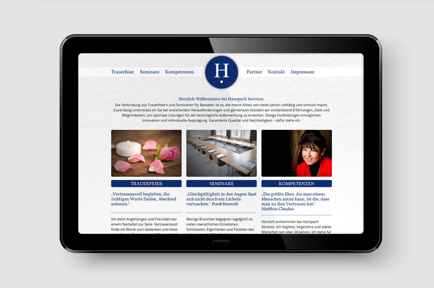 Hanspach Services - Screendesign