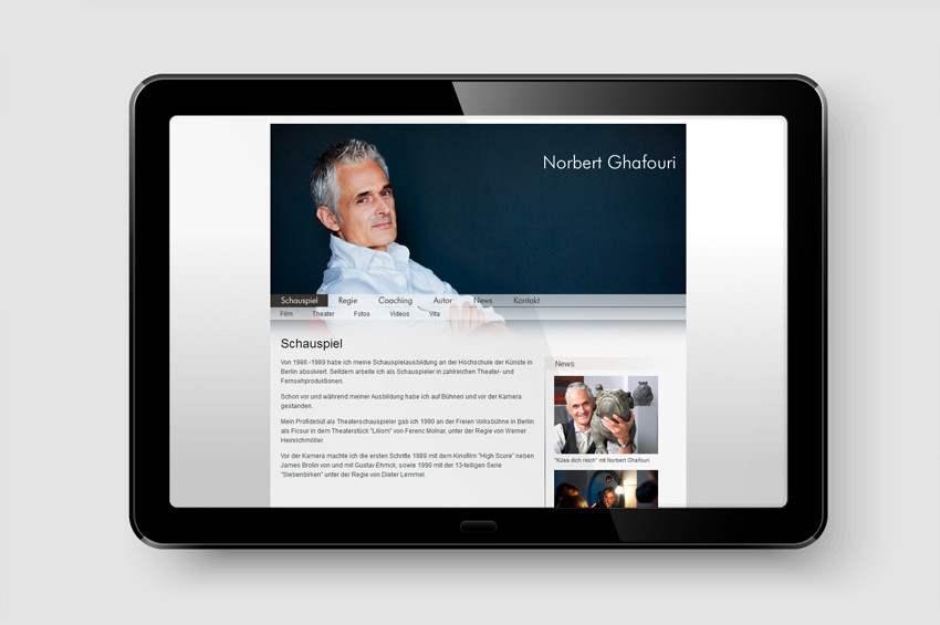 Norbert Ghafouri - Screendesign