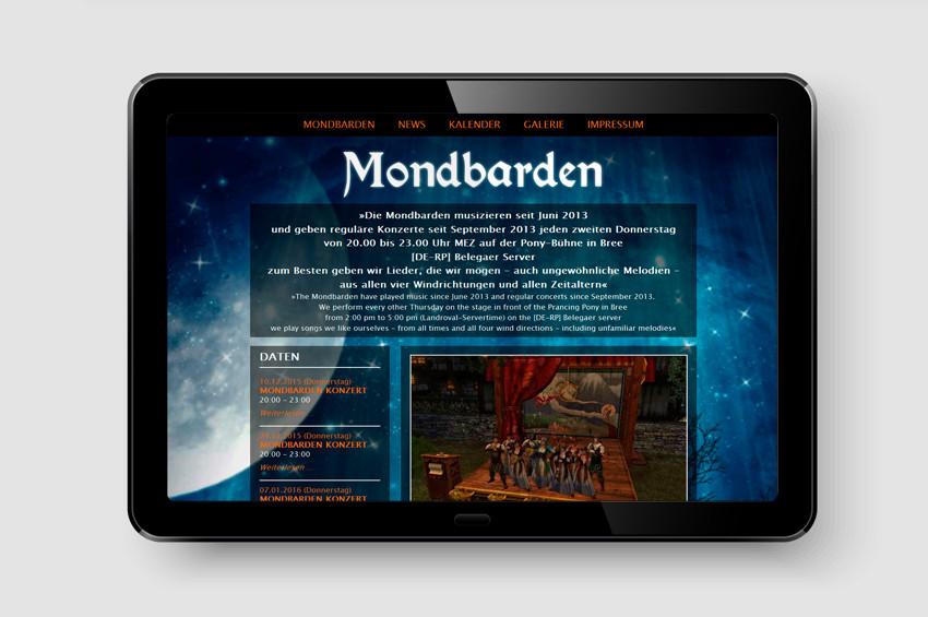 Mondbarden - Screendesign