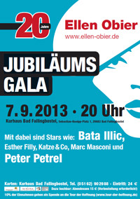 Plakat Jubiläumsgala Ellen Obier