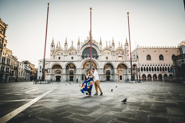 vacation photoshoot in venice